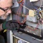 CASATI technician furnace maintenance cleaning