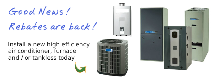Heating and Air Conditioning, HVAC Services, Rebates are back, CASATI