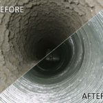 CASATI - before and after picture of duct cleaning services
